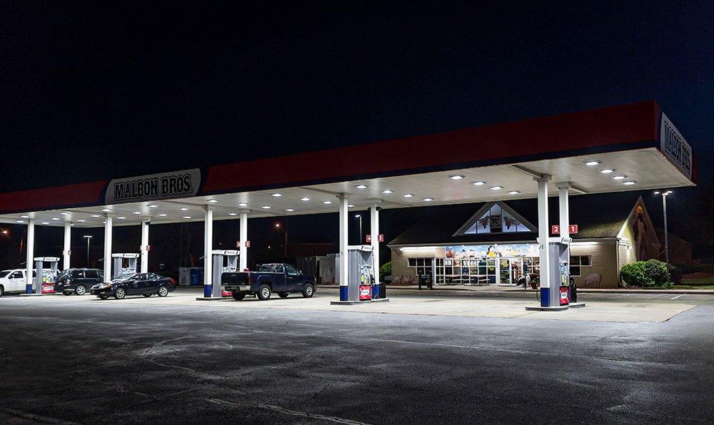 gas station outdoor lighting