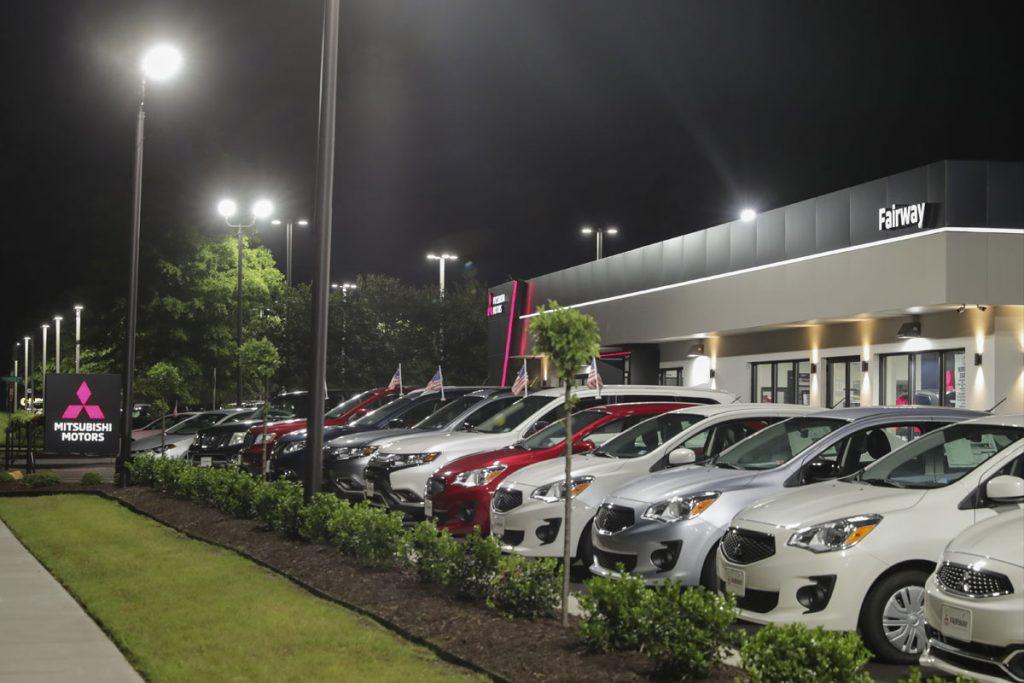 Auto Dealer outdoor lighting